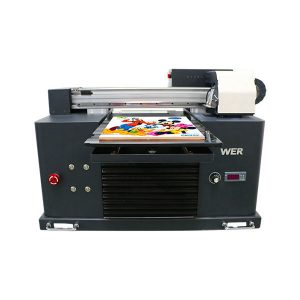 automatisk telefon case uv flatbed printer med 6 farve udskrivning