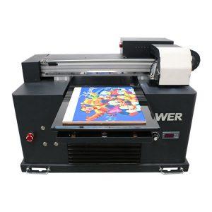 billig pris a4 størrelse uv led flatbed printer til ethvert materiale