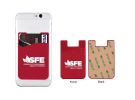 Adhesive mobiltelefon lommebøger